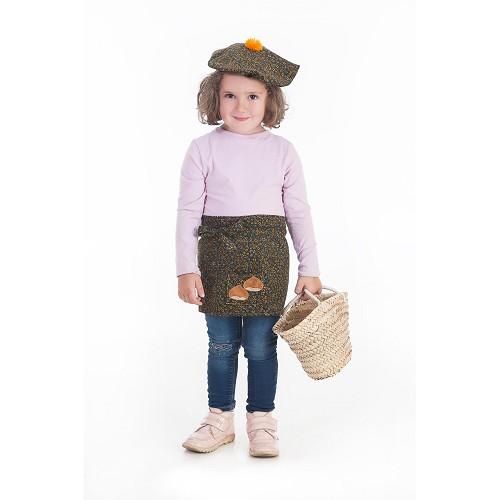 Disfraz Castañera Infantil Flores