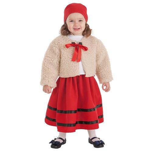 Disfraz Pastora Abrigo Infantil
