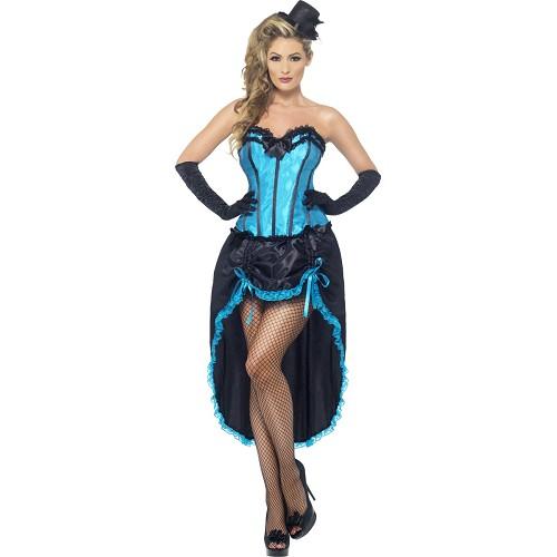 Disfraz Cabaret Azul Adulto Lux