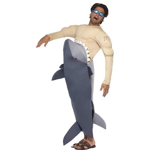 Disfraz Tiburón Comiendo Surfero
