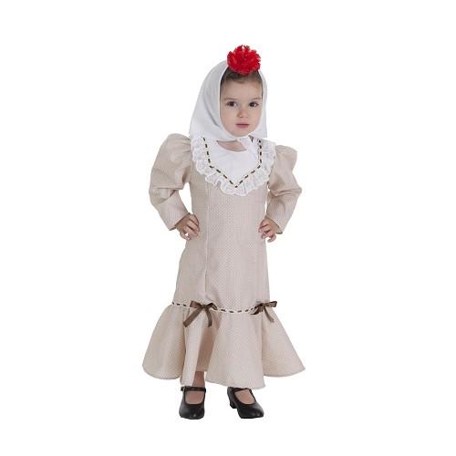 Disfraz Chulapa Beige Bebe (1 a 2 años )