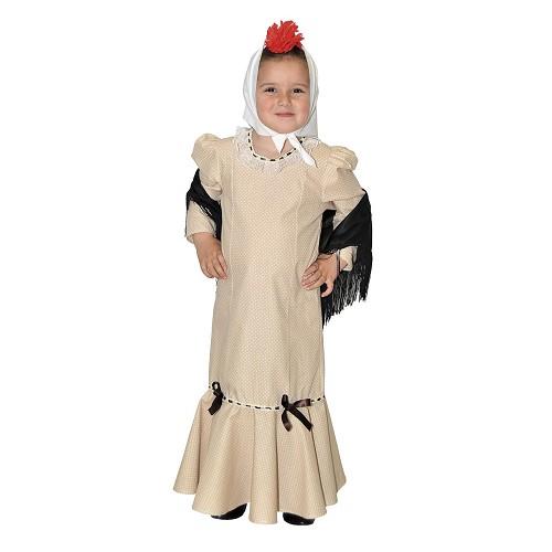 Disfraz Chulapa Beige Infantil