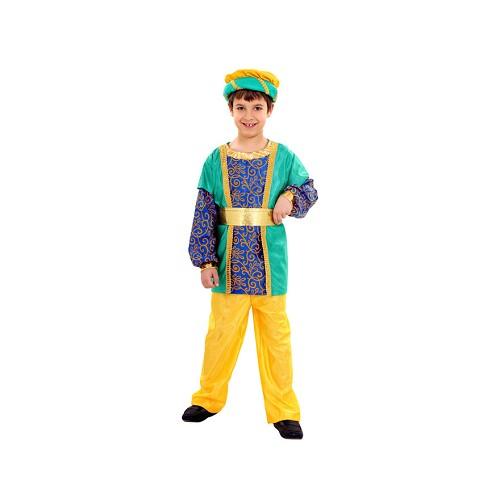 Disfraz Paje Rey Mago Azul Y Amarillo Infantil