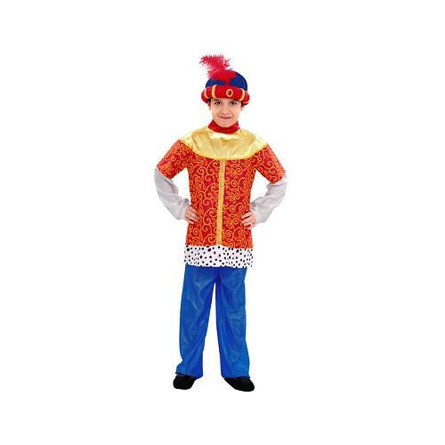 Disfraz Paje Rey Mago Rojo Y Azul
