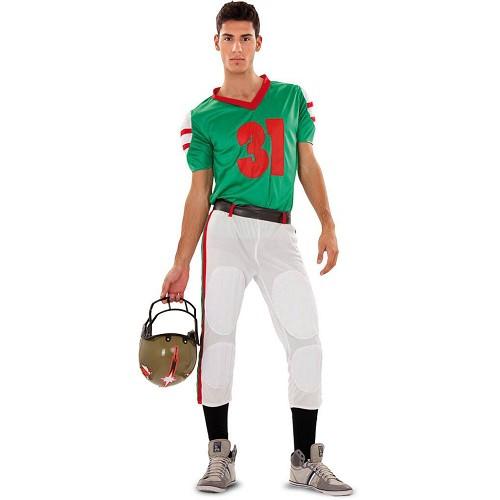 Disfraz Jugador Rugby Green Horses Adulto