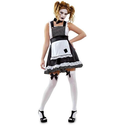 Disfraz Muñeca De Trapo Blanco Y Negro Adulto