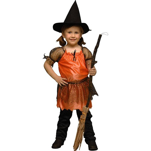 Disfraz Brujita Naranja Infantil