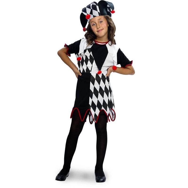 Disfraz Arlequina Blanco Y Negro Infantil