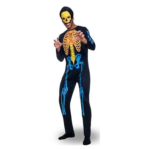 Disfraz Esqueleto De Colores Adulto