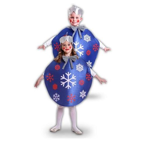 Disfraz Bola De Navidad Azul Infantil