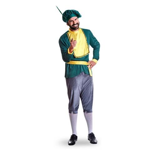 Disfraz Paje Terciopelo Verde Adulto