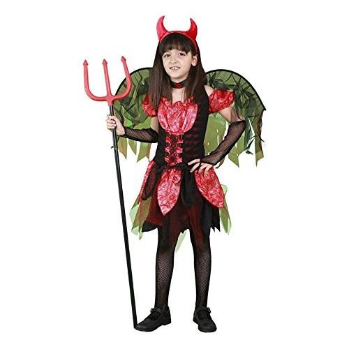 Disfraz Diablilla Roja Con Alas Infantil