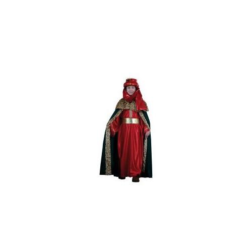 Disfraz Rey Mago Lujo Rojo Infantil
