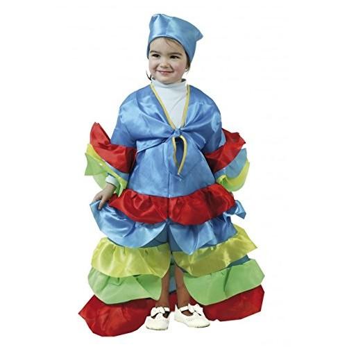 Disfraz Cubana Azul Infantil