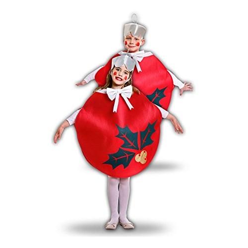 Disfraz Bola De Navidad Roja Infantil