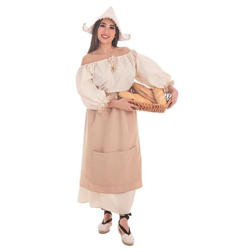 Disfraz Medieval Molinera Adulto