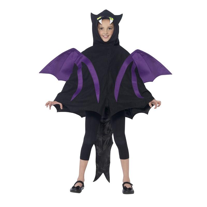 Disfraz Murciélago Capa con Capucha Infantil