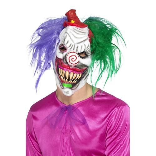 Máscara Payaso Colores Asesino Deluxe