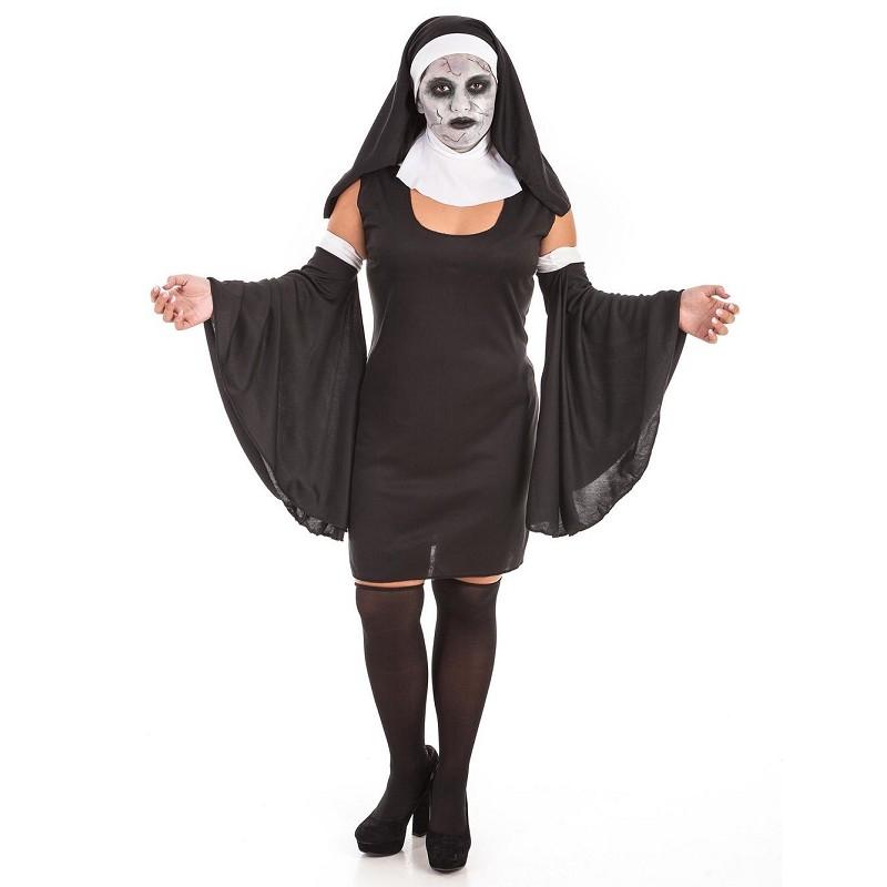 Disfraz Monja Volante Adulto + Set Maquillaje
