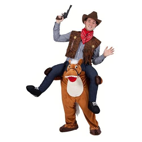 Disfraz Caballo con Jinete Pistolero Adulto