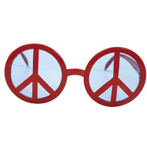 Gafas Simbolo De La Paz Rojas
