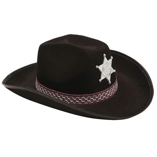Sombrero De Vaquero Negro Adulto