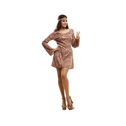 Disfraz Hippie Psicodélica Mujer