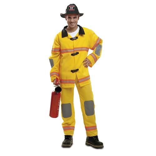 Disfraz Bombero Amarillo Hombre