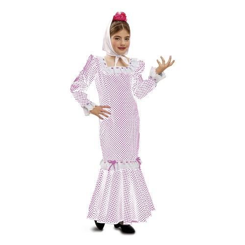 Disfraz Madrileña Blanco Niña