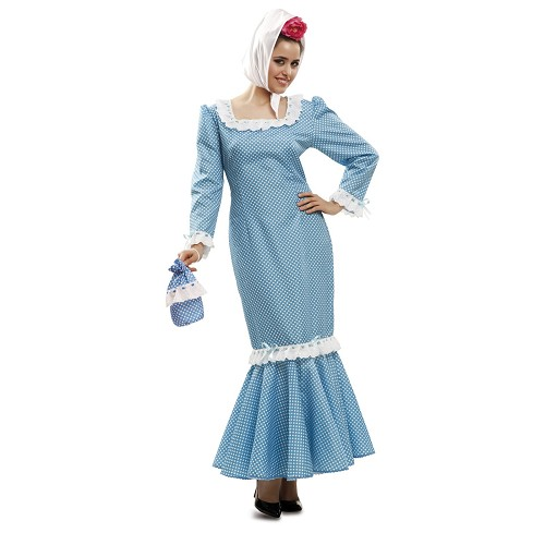 Disfraz Chulapa Madrileña Azul Mujer