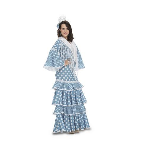 Flamenca Huelva Turquesa Mujer