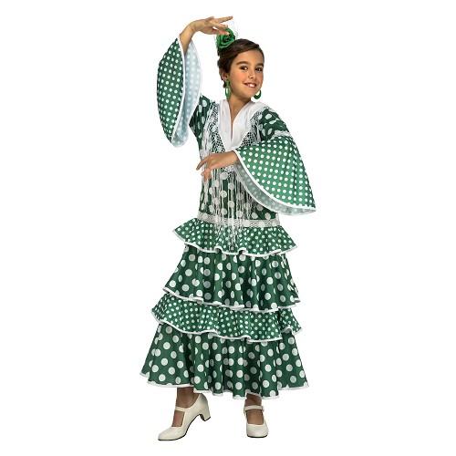 Disfraz Flamenca Giralda Verde Niña