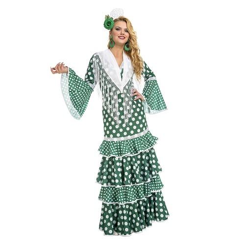 Disfraz Flamenca Giralda Verde Mujer