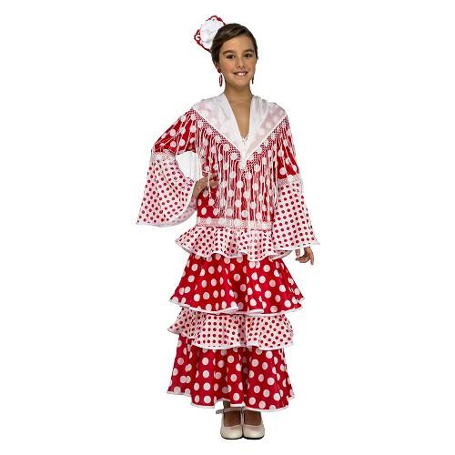 Disfraz Flamenca Rocío Rojo Niña