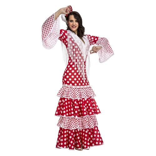 Disfraz Flamenca Rocío Rojo Mujer