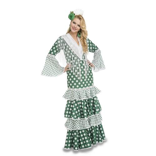 Disfraz Flamenca Feria Verde Mujer