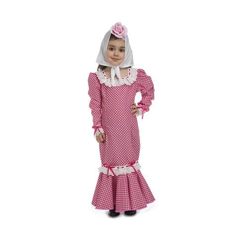 Disfraz Madrileña Rosa Bebé
