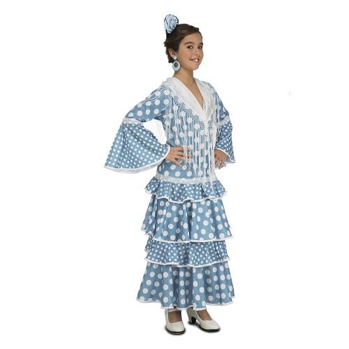 Disfraz Flamenca Huelva Turquesa Niña