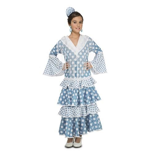 Disfraz Flamenca Guadalquivir Turquesa