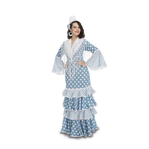 Disfraz Flamenca Guadalquivir Turquesa Mujer