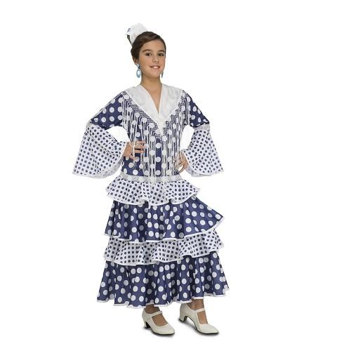 Disfraz Flamenca Soleá Azul Niña