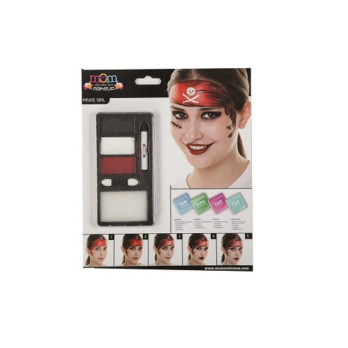 Kit Maquillaje Adulto Pirata Chica