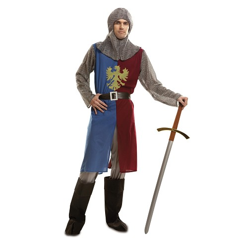 Caballero Medieval Azul Y Granate Hombre