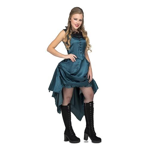 Chica Saloon Azul Mujer