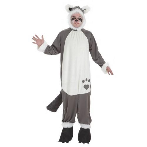 Costume adulte peluche raton laveur