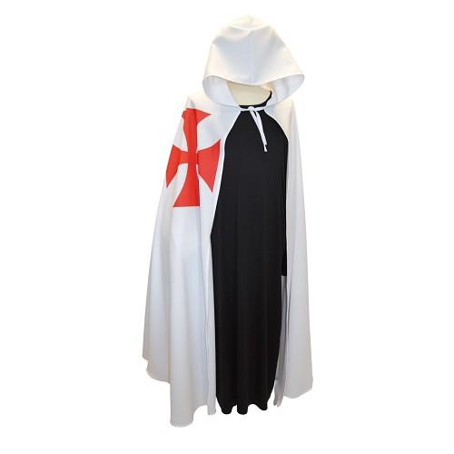 Templiers blanc manteau unique taille