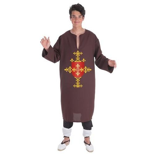 Costume adulte tunique brune