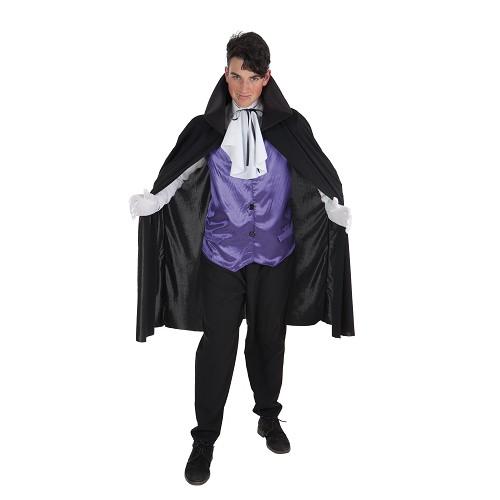 Vampire costume mauve pour adulte