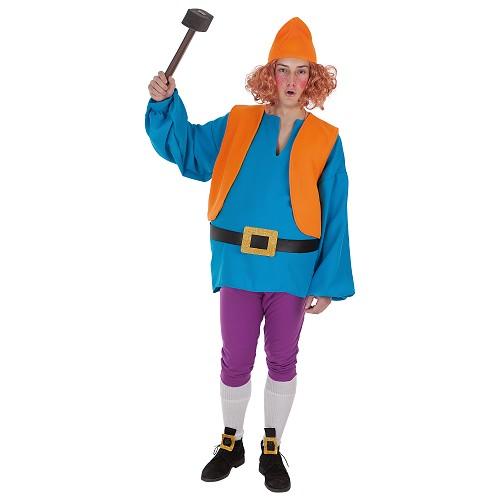 Costume adulte nain bleu t-l