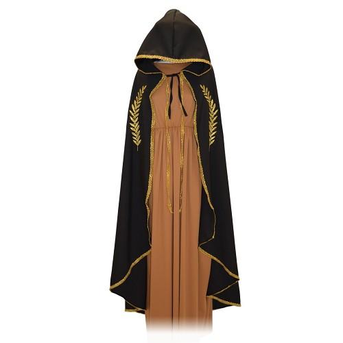 Mariana noir brodé d'or manteau T-Xl